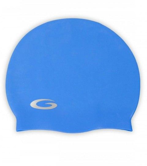 bd735cee5c8093 Czepek pływacki SILICONE SOLID CAP blue GWINNER. aqua-swim.pl-czepek -silicone-solid-cap-gwinner- ...