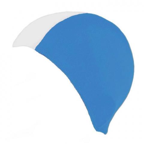 14f34733a3fe65 Czepek pływacki BATHING CAP 15 biało błękitny GWINNER. aqua-swim.pl-czepek-gwinner-1  ...