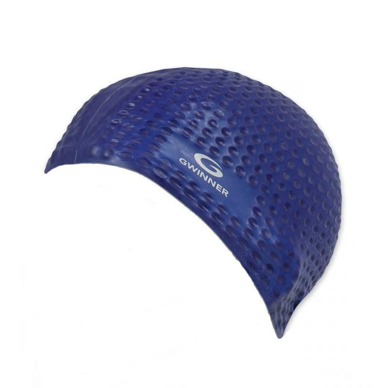 8eeb5cba65daad Sklep pływacki AQUA-SWIM.pl okulary pływackie płetwy stroje pływackie > Czepek  pływacki MASSAGE CAP n.blue GWINNER > Akcesoria pływackie stroje kąpielowe  ...