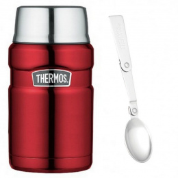 TERMOS OBIADOWY Z ŁYŻKA Thermos King 710ml DO 14h RED